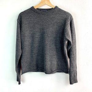 Brandy Melville• Crop gray raw hem sweatshirt